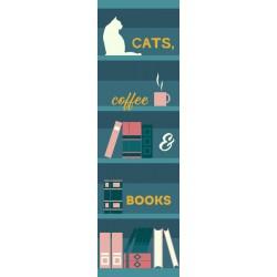 """Punts de llibre """"Cats, coffee & books"""""""