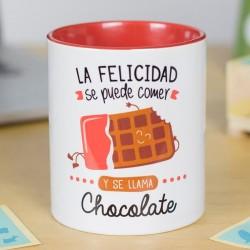 """Tassa """"La felicidad se puede comer y se llama chocolate"""""""