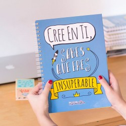"Llibreta A4 ""Cree en ti, sabes que eres insuperable"""