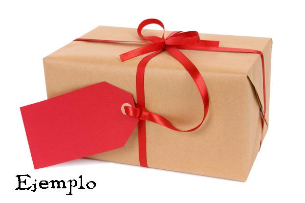 Ejemplo paquete regalo